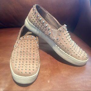 Sam Edelman Women's Stud Slip On Sneakers SZ 9